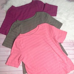 Lot of 3 Charter Club Perfectly Soft Pima Shirts X